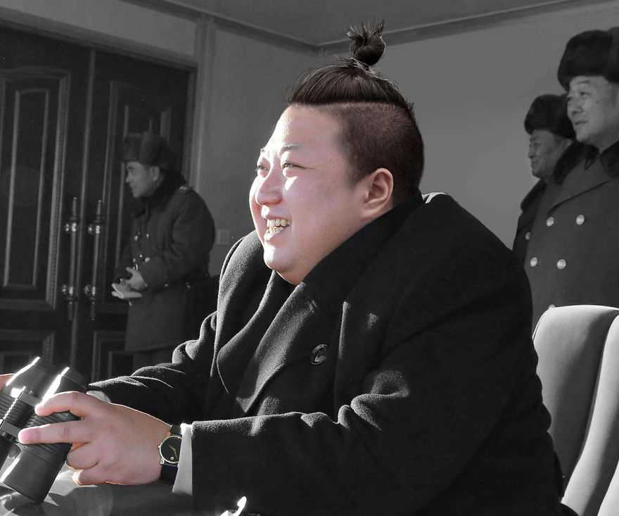 Мировые лидеры с хвостами-гульками на головах
