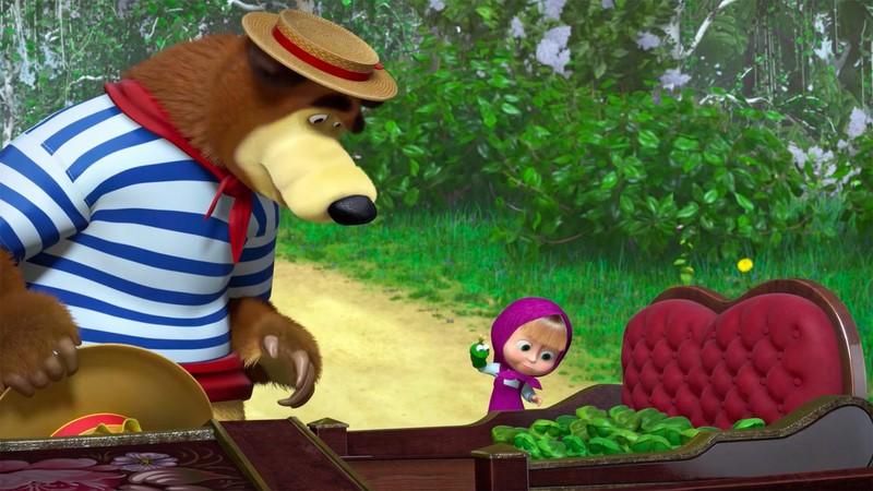 """Алина и Варя — голоса из мультфильма """"Маша и Медведь"""""""