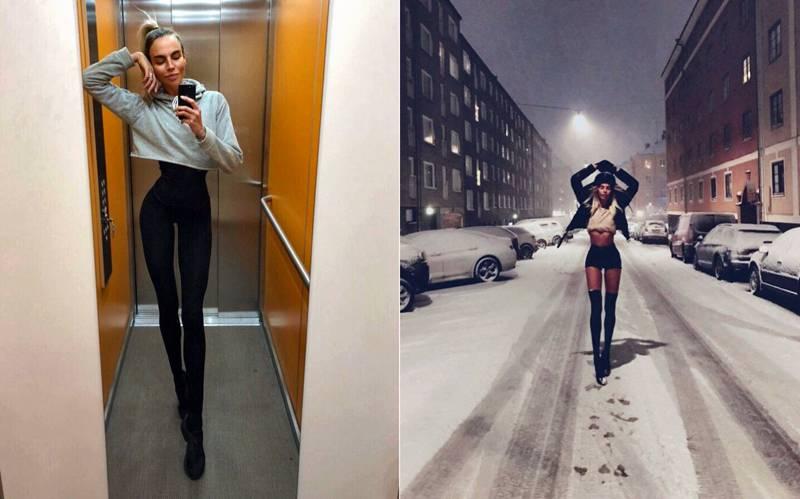 Метровые ноги шведской модели сделали её звездой в сети