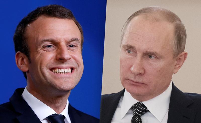 """Макрон провозгласил себя """"ровней Путину"""""""