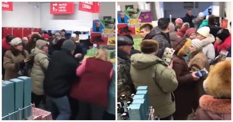 Жители Ставрополя сцепились из-за игрушек по акции в «Магните»