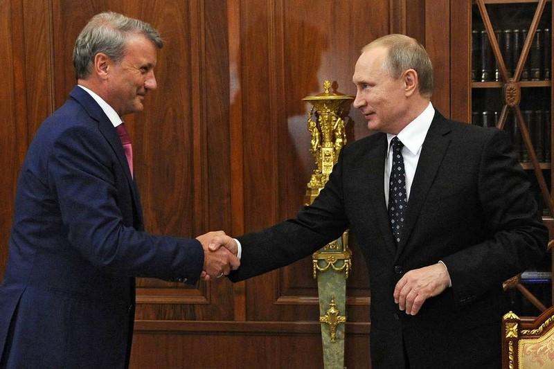 Путин подарил Грефу орден